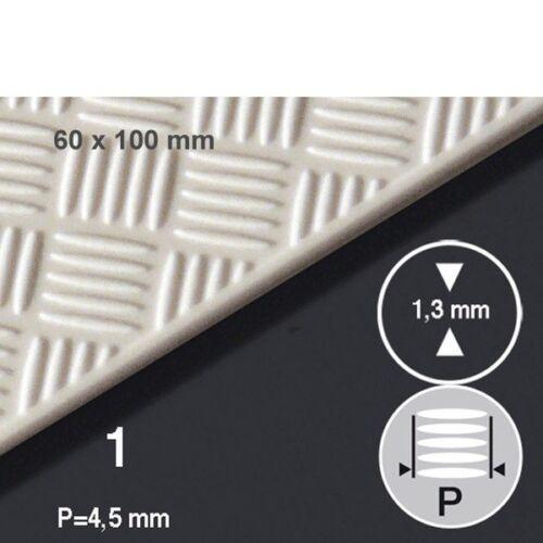 PS-Tränenblech 6 x 10 cm P=4,5 mm Schulcz Stärke 1 mm 5-fach P=4,5 mm