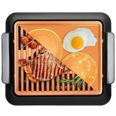 Gotham Steel Smokeless Electric Grill, Griddle, and Pitchfork – As Seen on TV!
