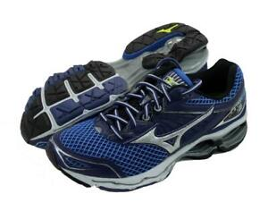 New-Men-039-s-Mizuno-Wave-Creation-18-Running-Shoes-Size-9-Navy-Blue-Silver
