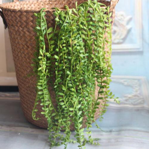 2pcs Grüne künstliche saftige Perlenschnur Hängepflanze Blumen Wohngestaltung
