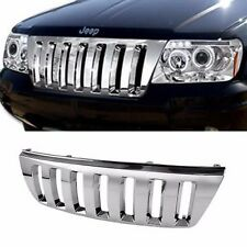 1999-2004 Jeep Grand Cherokee WJ ABS Plastic Chrome Front Bumper Grille Guard