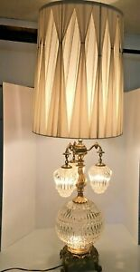 Charmant Image Is Loading Hollywood Regency Table Lamp Brass W 3 Hanging