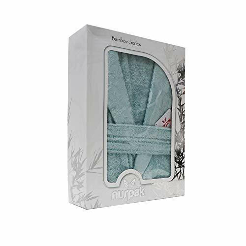 Mint, XX-L TDL 100/% Turkish Bamboo Shawl Spa Robe in Premium Gift Box