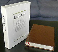 LE CORAN  DECORE PAR ZENDEROUDI TRAD GROSJEAN 1988 A L'ETAT DE NEUF ED P LEBAUD