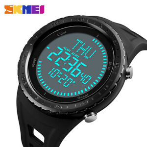 Humorous Skmei Fashion Multifunction Digital Watch Waterproof Outdoor Sports Watches Men Compass Countdown Alarm Led Wristwatches 100% High Quality Materials Men's Watches