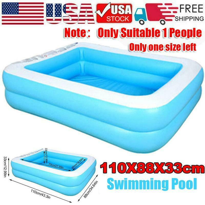 Inflatable Swimming Pool Large Family Summer Outdoor Play PVC Pool Kids Child