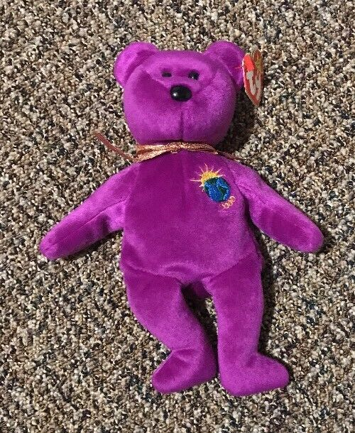 VERY RARE 4 ERRORS TY Beanie Babies MILLENNIUM Millenium Mint Limited With Tags