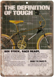 Kuwahara-BMX-Race-Bike-10-034-x-7-034-Metal-Sign-Vintage-Look-Reproduction-B155