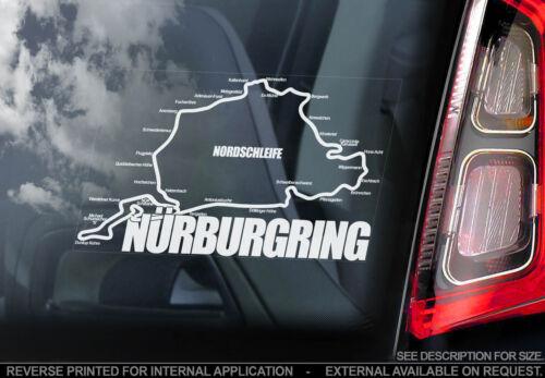 Nürburgring-F1 Voiture Fenêtre Autocollant-Nurburgring Decal Formula grand prix-V01
