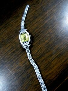 Vintage-BULOVA-Watch-14-KT-GOLD-FILLED-Sapphires-15-Jewels-NY-9027569-AS-IS