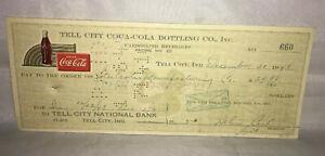 Tell-City-Coca-Cola-Coke-Bottling-Co-Check-660-December-30-1948