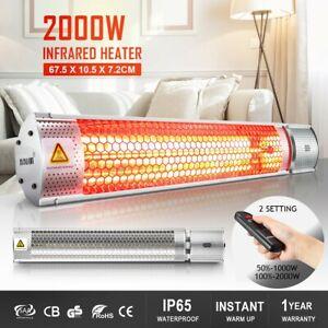Maxkon 2000W Electric Infrared Heater Radiant Strip Outdoor Patio Halogen Heat