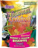 F.m.brown's Tropical Carnival Zoo-vital® Parrot & Macaw Biscotti Treat, New, Fr