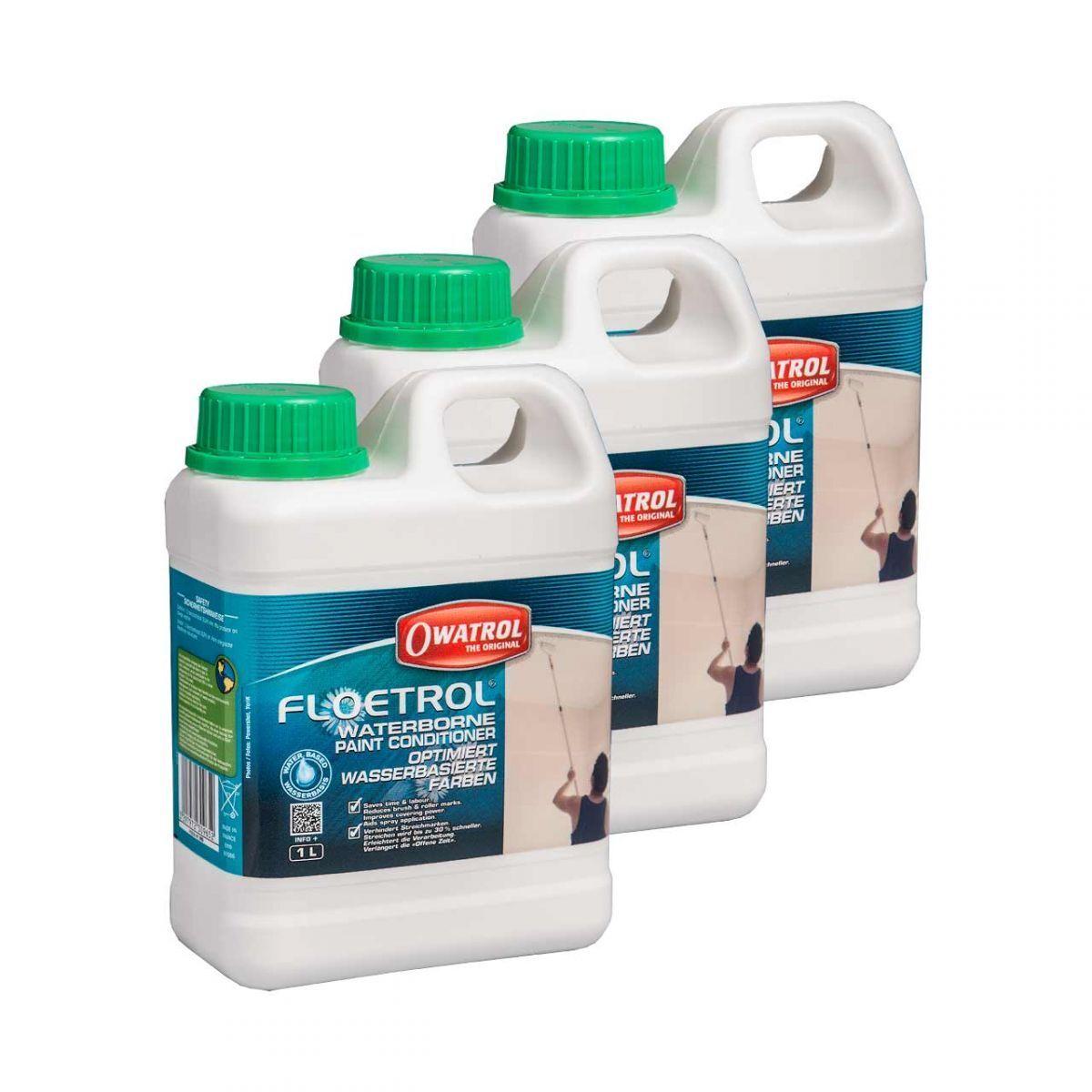 3 x Owatrol Floetrol 1l - Verlaufsoptimierer Fluidacryl Fluid Painting Pouring