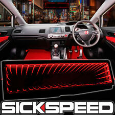 Sickspeed Galaxy Mirror Led Light Clip On Rear View Wink Rearview Red P4 Fits Ford