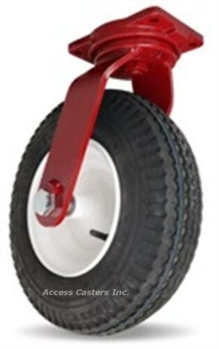 """S-7016-PR 16/"""" Hamilton Cush-N-Aire Pneumatic Swivel Plate Caster 960 lbs Cap"""