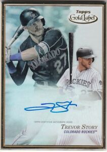 TREVOR-STORY-2017-TOPPS-GOLD-LABEL-GOLD-FRAME-AUTOGRAPH-AUTO-ROCKIES