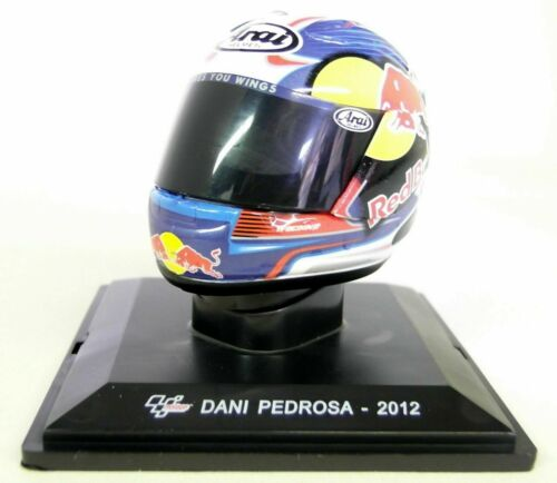 Helmet Dani Pedrosa motorcycle racer MotoGP 2012-1:5 Altaya Moto MC009