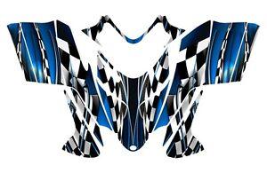 POLARIS-SHIFT-IQ-RMK-DRAGON-graphics-wrap-snowmobile-sticker-kit-NO2500-Blue