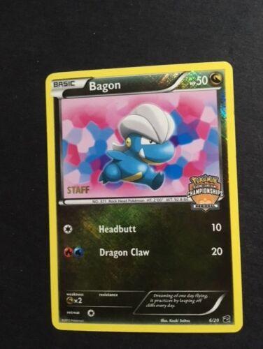MINT Pokemon Regional Championship Promo BAGON STAFF Stamped