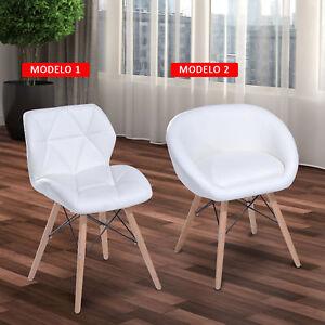 De Maciza Blanco Madera Comedor Asiento Alcochado 2 Modelos Silla Patas Tapizado Detalles uJ5lFcTK31