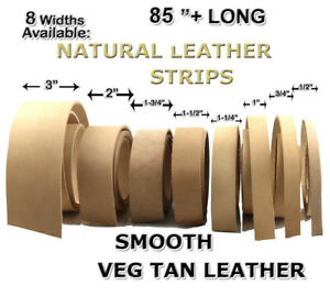 NATURAL-COWHIDE-EXTRA-HEAVYWEIGHT-VEG-TANNED-LEATHER-STRIPS-85-034-LONG-8-SIZES