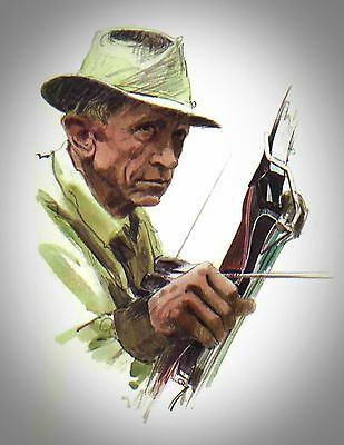 """Fred Bear 1965 Archery Catalog Cover Print 11/"""" x 8 1//2/"""" Reproduction"""