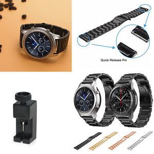 En Acier Inoxydable Solide Bracelet Band 22 Mm Pour Samsung Gear S3 Frontier & Classic-afficher Le Titre D'origine