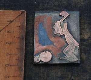 KOPFLOS-Galvano-Druckplatte-Klischee-Eichenberg-printing-plate-copper-printer