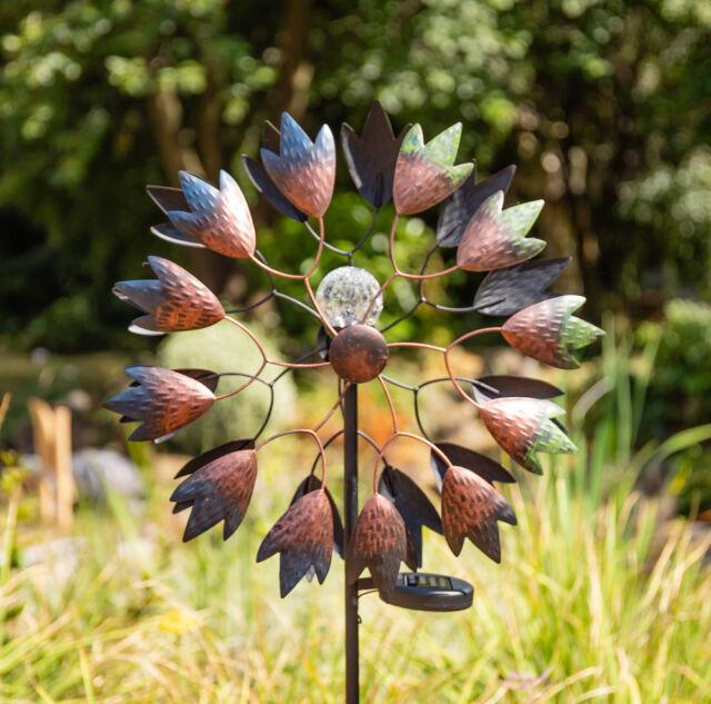 Garten Windrad Kinetisch Windspiel Dekoration Selwood mit Solarleuchte Primrose™