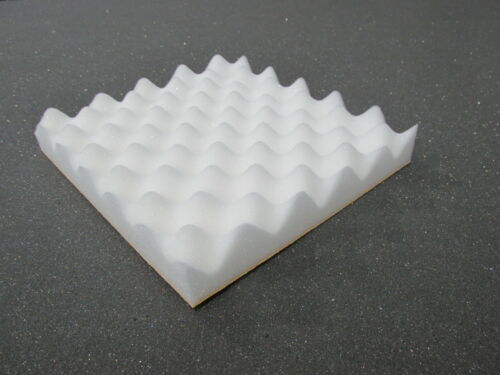 "ACOUSTIC FOAM SOUND PROOFING 24 TILES in white 12/"" x 12/"" x 40mm"