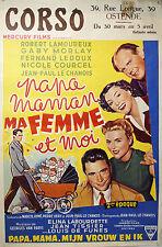 PAPA MAMAN MA FEMME ET MOI - 1955- J.P. LE CHANNOIS - R.LAMOUREUX - L. de FUNES