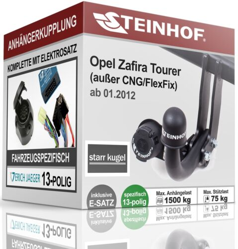 Anhängerkupplung starr OPEL ZAFIRA TOURER mit CAN ab 2012+E-SATZ 13p SPEZ.