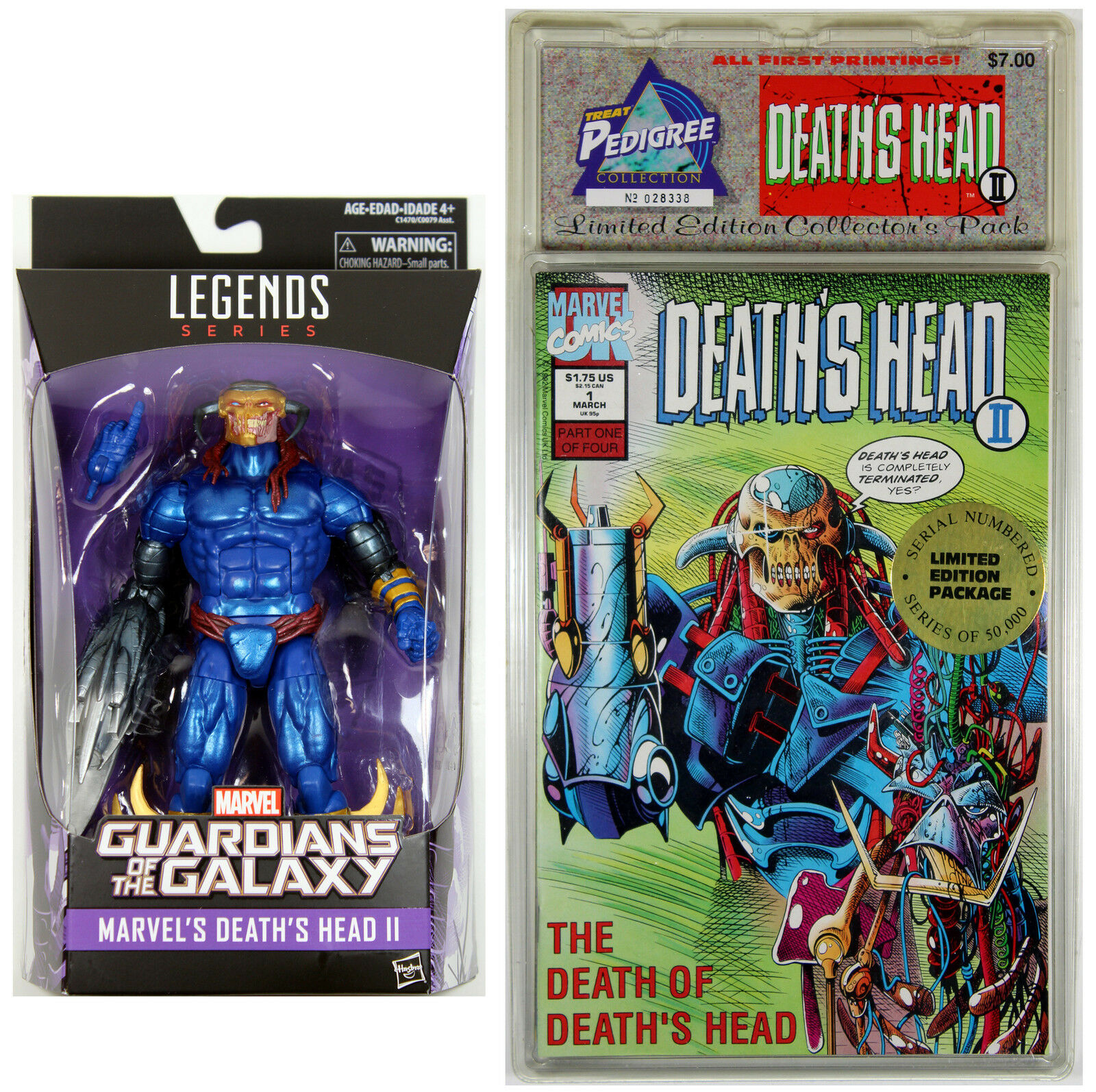 Marvel Legends DEATH'S HEAD II ACTION FIGURE &  1-4 DEATH's HEAD COMIC BOOK SET