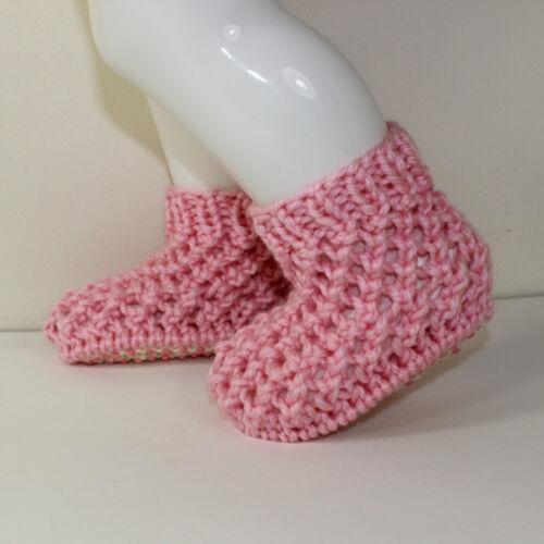 Impreso Knitting instructions-toddler Grueso Encaje Botas Tejer patrón