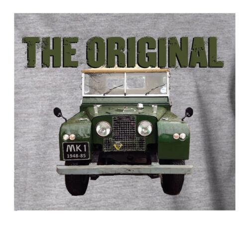 Land Rover Mk 1 L/'Original Tout Terrain 4 X 4 Sport Gris T-Shirt Cadeau Idéal