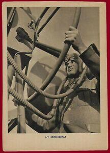 German WW2 Third Reich postcard WEHRMACHT Acoustic Monitoring Device -Horchgerät