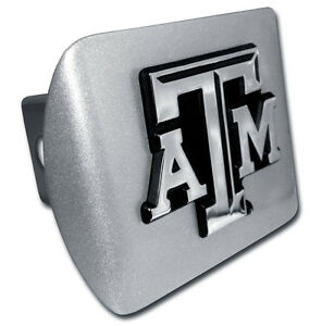 US Army Brushed Metal Trailer Hitch Cover with Chrome Star Metal Logo