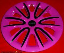 4 Radkappen FREE pink glanz-schwarz mit 2 x Klarlack 14 Zoll--NEU--TOP