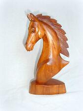 Pferd Pferdebüste Pferdekopf Holz handgeschnitzt Skulptur Holzfigur 30x13x9cm
