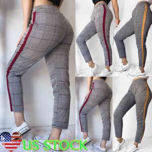 Women-High-Waist-Stretch-Skinny-Skinny-Pencil-Leisure-Pants-Long-Trouser-US-4-12