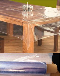 Clear Pvc Vinyl Oilcloth Tablecloth Waterproof Table
