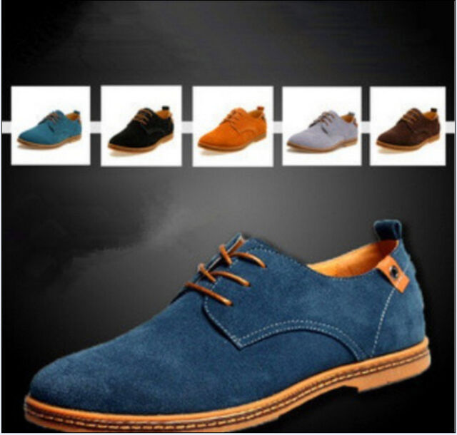 NEW 2018 Suede European style leather Shoes Men's oxfords Casual  Fashion