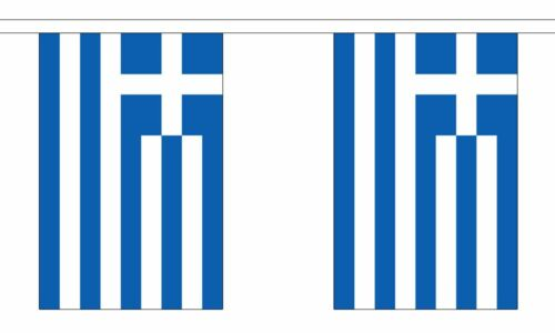 3m long with 10 Flags Greece Polyester Flag Bunting