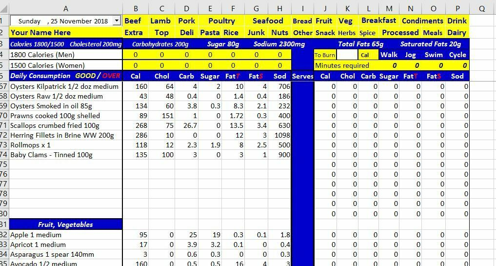 Weight Loss Nutrition Calculator Excel s l1600
