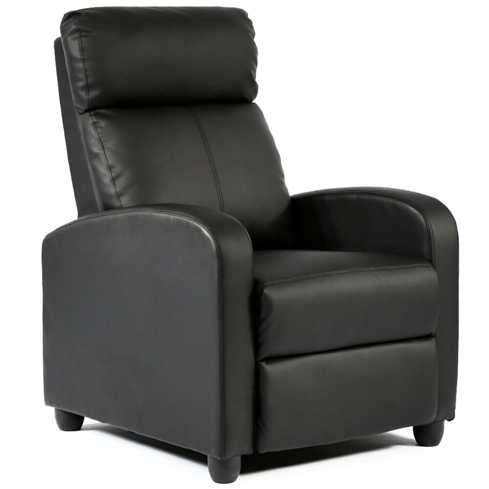Details about Recliner Chair Modern Leather Chaise Couch Single Accent  Recliner Chair Sofa