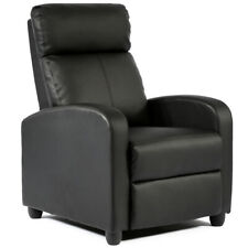 FDW Modern Leather Chaise Couch Single Recliner Chair Sofa - SRC-7087-BLACK