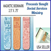 Christian Magnetic Bookmarks Set of 3 Be Faithful Inspirational Verses