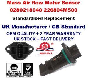 Humble Mass Air Flow Mètre Capteur 0280218040 For Nissan Micra (k11) March 1.0i 1.3i 1.4i-afficher Le Titre D'origine