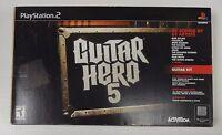 Guitar Hero 5 Bundle For Playstation 2 Rare Ps2